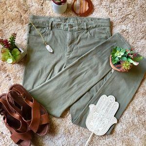 {Ann Taylor Loft} Super Soft Sage Green Leggings 6